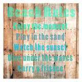 Beach Rules Prints by Sheldon Lewis