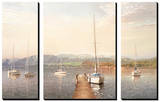 Sailing into the First Light (set of 3 panels) Posters