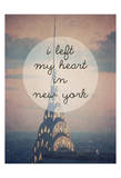 I Left My Heart In Ny Posters by Ashley Davis