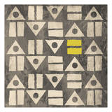 Pattern II (gray and yellow) Prints by Jace Grey