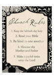 Church Rules II Poster by Jace Grey