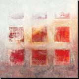 Red Squares Reprodukce na plátně