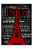 Paris Type Red Prints by Jace Grey