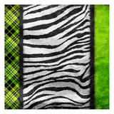 Lime Zebra Plaid Art by Jace Grey