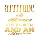 Attitude Gold Art by Jace Grey