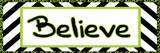 Tween Believe Green Art by Lauren Gibbons