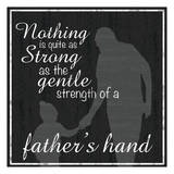Father Hand Print by Lauren Gibbons