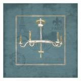 Blue Chandelier II Poster by Jace Grey