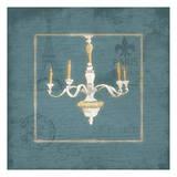 Blue Chandelier Prints by Jace Grey