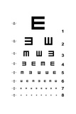 Eye Test Chart Prints by  oriontrail2
