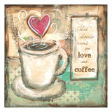 House Runs on Love and Coffee Prints by Erin Butson