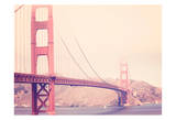 Golden Gate Vintage Art by Ashley Davis