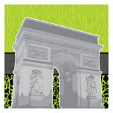 Eiffel Tween Green 2 Poster by Lauren Gibbons