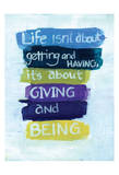 Giving and Being Poster autor Smith Haynes