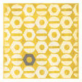 Pattern Gray Yellow Prints by Jace Grey