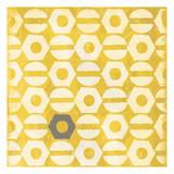 Pattern Gray Yellow Prints by Jace Grey