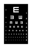 Eye Test Chart - White on Black Posters by  oriontrail2