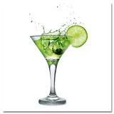 Lime Cocktail Poster