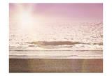 Pink Beach Sunset Posters by Ashley Davis