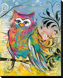 Rainbow Owl Stretched Canvas Print