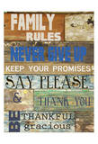 Family Rules Cools Poster by Taylor Greene