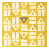 Pattern II (gray and yellow) Print by Jace Grey