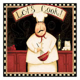 Lets Cook With Wine Affiches par Dan Dipaolo