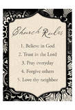 Church Rules Prints by Jace Grey