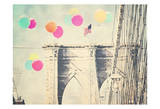 Bright Balloons On Bridge Art by Ashley Davis