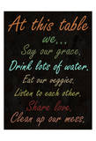 Healthy Table Poster by Sheldon Lewis