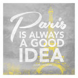Paris Yellow Prints by Jace Grey