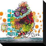 Mrs. Owl Kunstdruk op gespannen doek