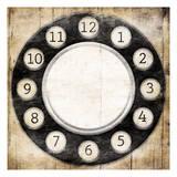 Rottery Clock Black Prints by Jace Grey