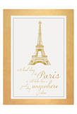 Paris Quote Gold Print by Lauren Gibbons