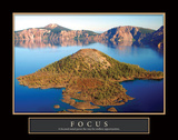 Crater Lake Focus Art by Douglas Taylor