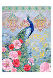 Peaceful Peacock 2 (pink) Prints by Nicole Tamarin