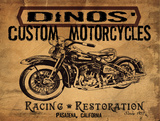 Dinos' Motorcycles Juliste tekijänä Jason Giacopelli