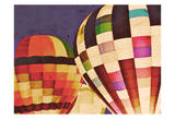 Three Hot Air Balloons Prints by Ashley Davis