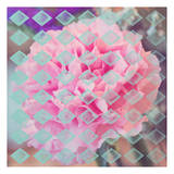 Pink Flower Diamonds Poster by Ashley Davis