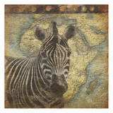 Zebra Travel Art by Jace Grey