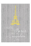 Paris Quote Gray Prints by Lauren Gibbons