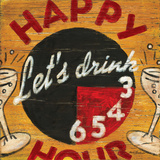 Happy Hour Posters by Aaron Christensen