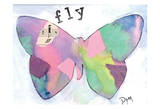 Fly Butterfly Poster by Beverly Dyer