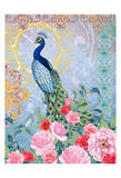 Peaceful Peacock (pink) Posters by Nicole Tamarin
