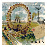 Paris Ferris Wheel Prints by Elizabeth Jordan