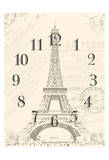 Paris Clock Art by Jace Grey