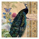 Peacock Brocade 1 Rev Poster by Elizabeth Jordan