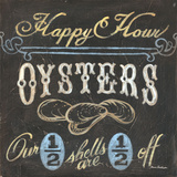 Happy Hour Oysters Posters by Aaron Christensen