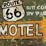 Route 66 Motel Posters by Aaron Christensen