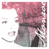 NY Monroe Pink Posters by Jace Grey